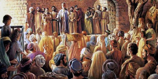 Первая проповедь апостола Петра деяния апостолов новый завет библия