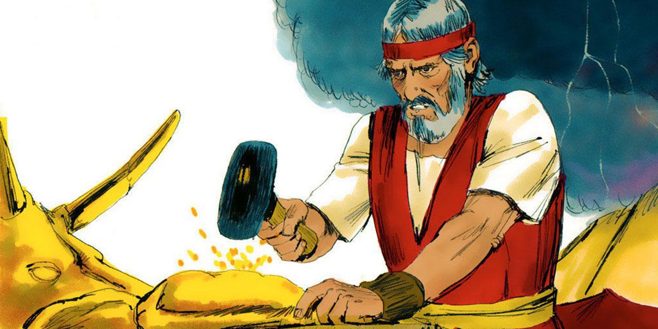 Аарон льёт золотого тельца исход ветхий завет библия