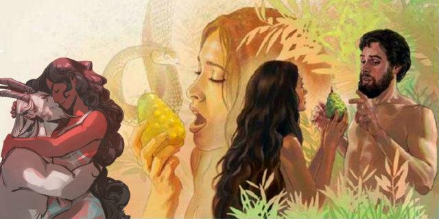 Ева вкушает запретный плод Бытие Ветхий завет Библия