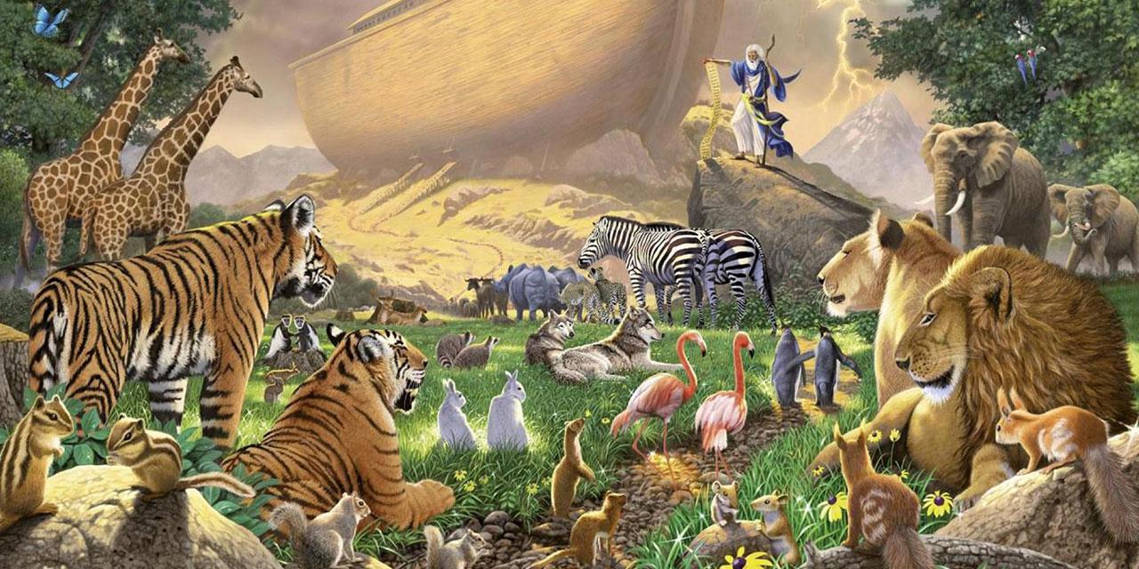 Ной собирает зверей в ковчег бытие ветхий завет Библия