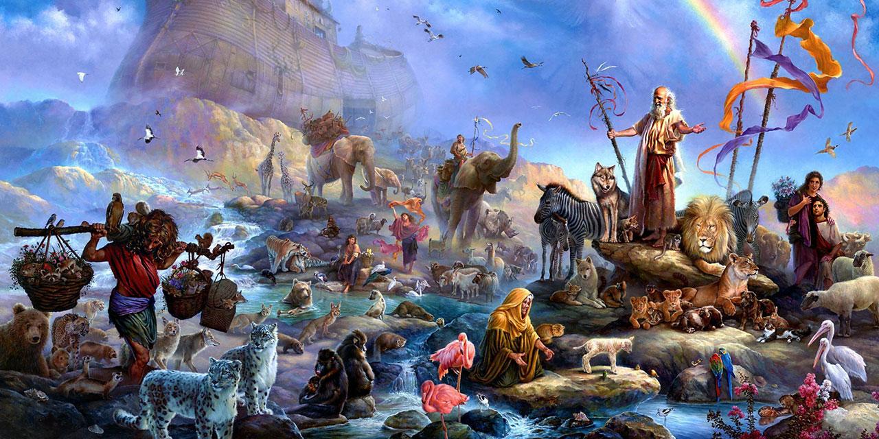 Ной выходит из ковчега бытие ветхий завет Библия