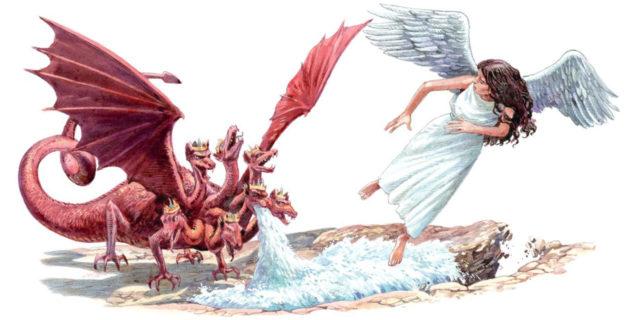 Откровение Иоанна Богослова даны были жене два крыла большого орла, чтобы она летела в пустыню в своё место от лица змея новый завет библия