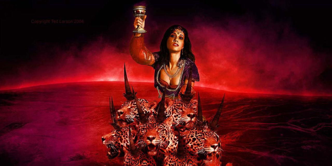 Откровение Иоанна Богослова который увидел жену, сидящую на звере багряном, преисполненном именами богохульными, с семью головами и десятью рогами новый завет библия