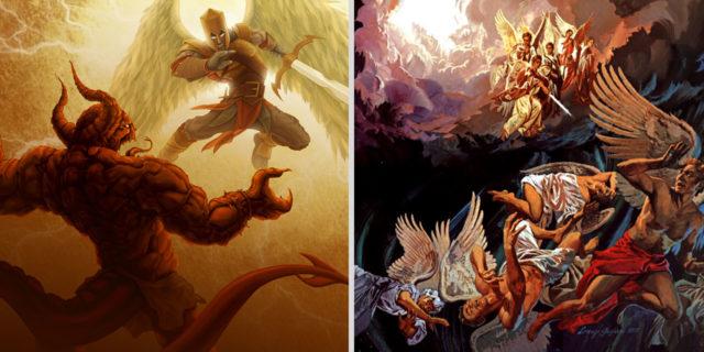 Откровение Иоанна Богослова низвержен был великий дракон, древний змей, называемый дьяволом и сатаною, обольщающий всю вселенную новый завет библия 2
