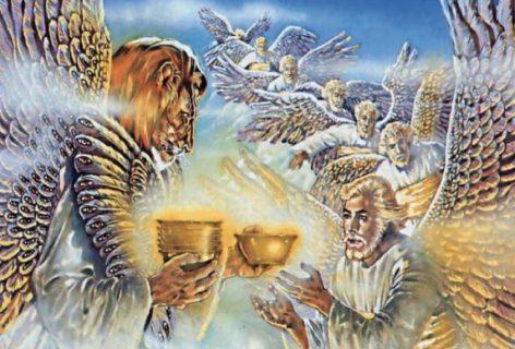 Откровение Иоанна Богослова одно из чётырех животных дало семи Ангелам семь золотых чаш новый завет библия