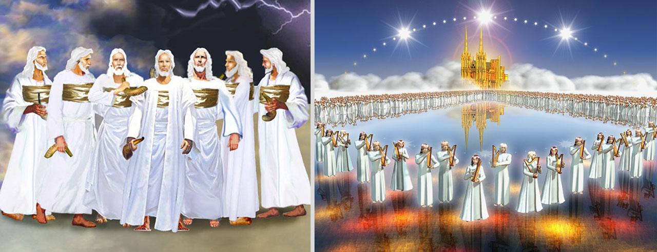 Откровение Иоанна Богослова семь Ангелов, имеющих семь последних язв и стеклянное море, смешанное с огнём новый завет библия