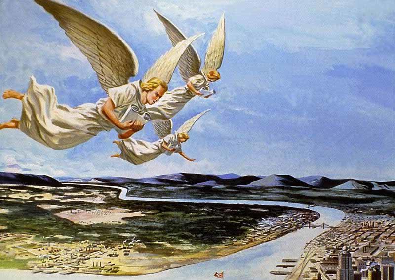Откровение Иоанна Богослова увидел я другого Ангела, летящего по середине неба, который имел вечное Евангелие, чтобы благовествовать живущим на земле новый завет библия