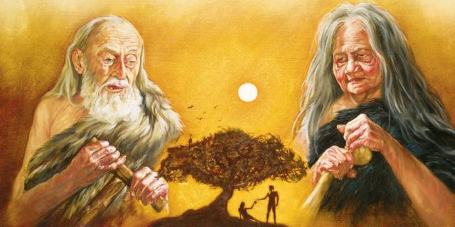 сделал Господь Бог Адаму и жене его одежды кожаные и одел их Бытие Ветхий завет Библия