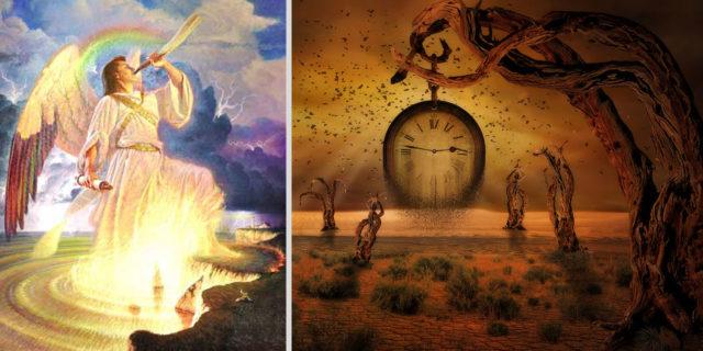 Откровение Иоанна Богослова И видел я другого Ангела сильного, сходящего с неба, облечённого облаком; над головою его была радуга, и лицо его как солнце, и ноги его как столпы огненные новый завет библия
