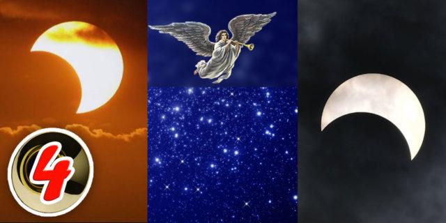 Четвёртый Ангел вострубил, и поражена была третья часть солнца и третья часть луны и третья часть звёзд