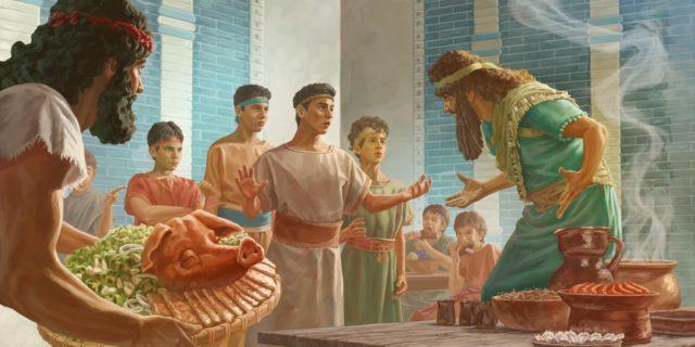 Даниил пророк и отроки веганы едят овощи и пьют воду ветхий завет библия