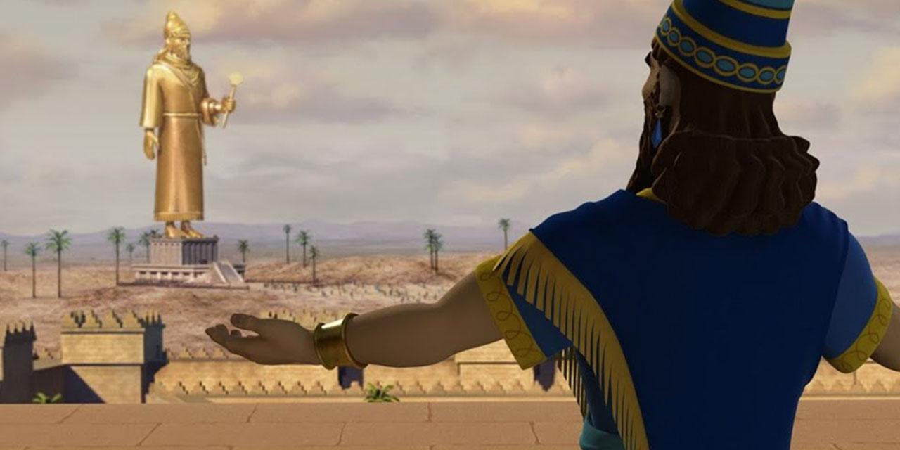 Даниил пророк и статуя царя навуходоносора Седрах, Мисах и Авденаго ветхий завет библия 1