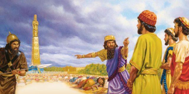 Даниил пророк и статуя царя навуходоносора Седрах, Мисах и Авденаго ветхий завет библия 3