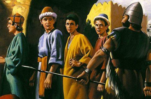Даниил пророк и статуя царя навуходоносора Седрах, Мисах и Авденаго ветхий завет библия 4