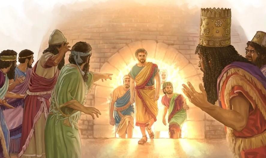Даниил пророк и статуя царя навуходоносора Седрах, Мисах и Авденаго ветхий завет библия 8