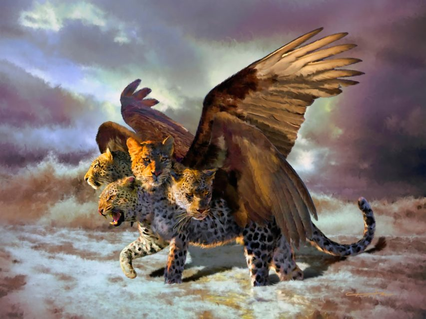 Даниил пророк рассказывает сон о четырёх зверях барс ветхий завет библия 4
