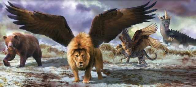Даниил пророк рассказывает сон о четырёх зверях ветхий завет библия 1