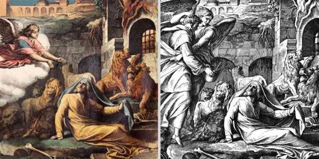 Даниил пророк во рву со львами и пророк Аввакум ветхий завет библия