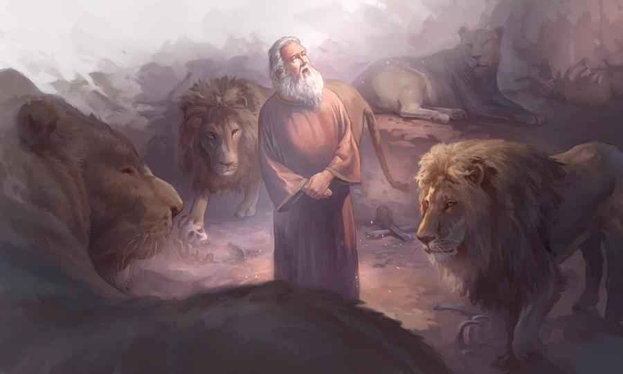 Даниил пророк во рву со львами ветхий завет библия 3