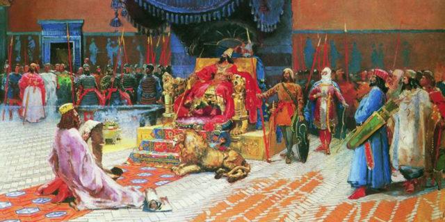 Есфирь царь Артаксеркс и царица Астинь ветхий завет Библия