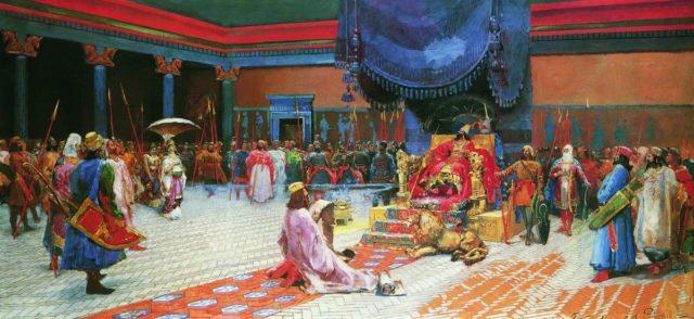 Есфирь царь Артаксеркс и царица Есфирь ветхий завет Библия