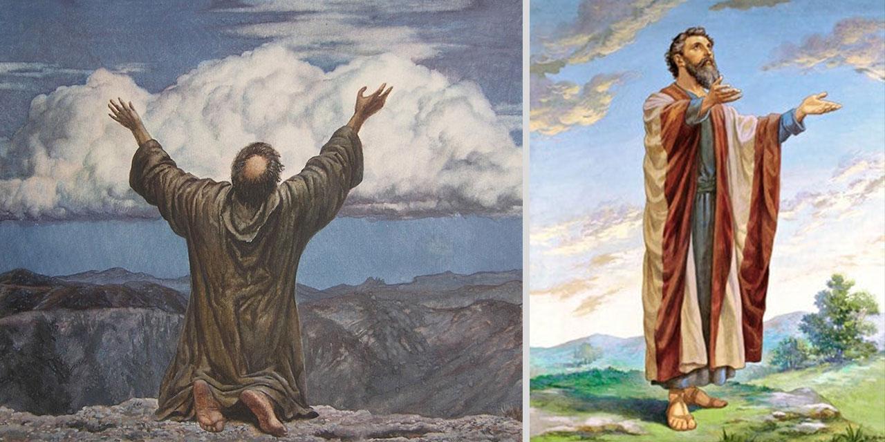 Иезекииль пророк стоя и на коленях перед Господом Богом ветхий завет библия