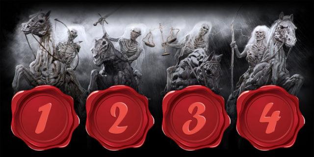 Откровение Иоанна Богослова четыре всадника на конях четыре печати новый завет библия