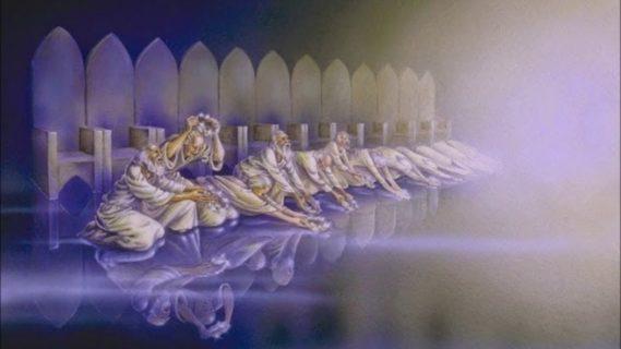 Откровение Иоанна Богослова И двадцать четыре старца, сидящие пред Богом на престолах своих, пали на лица свои и поклонились Богу новый завет библия