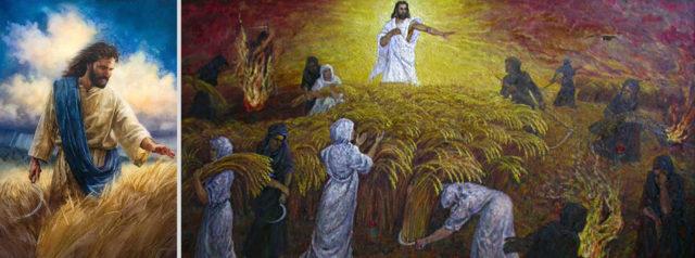 Откровение Иоанна Богослова И поверг сидящий на облаке серп свой на землю, и земля была пожата новый завет библия