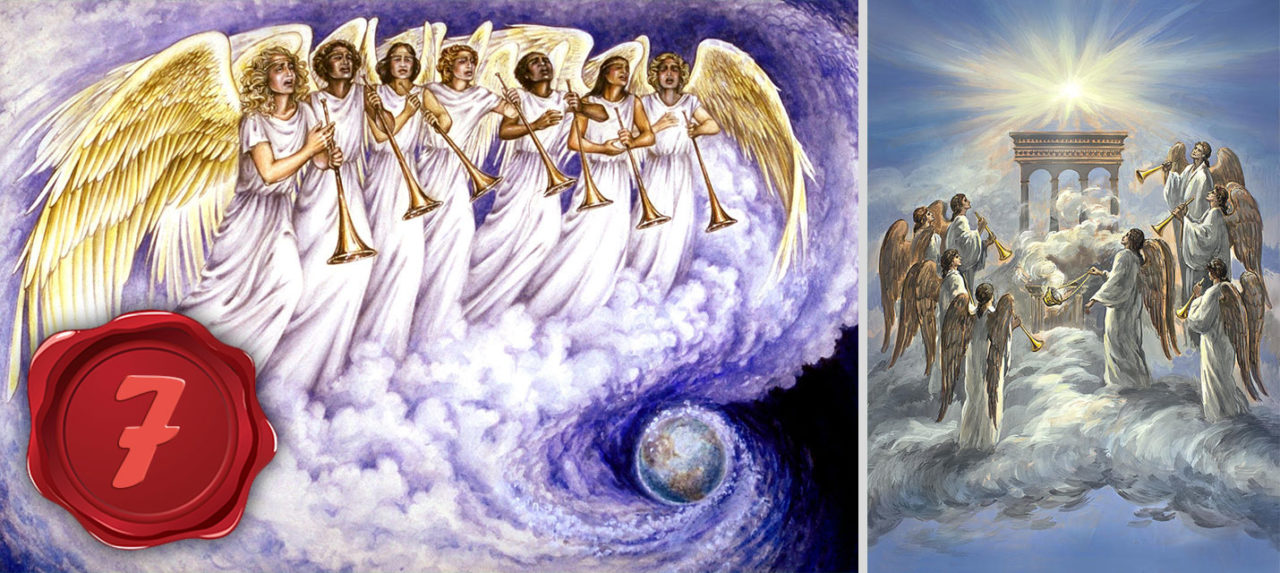 Откровение Иоанна Богослова И я видел семь Ангелов, которые стояли перед Богом; и дано им семь труб с печатью новый завет библия 2