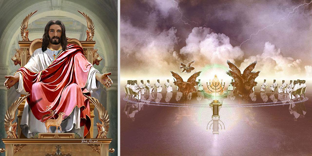 Откровение Иоанна Богослова Иисус на престоле Давида и сидящие на престолах, которым дано было судить новый завет библия
