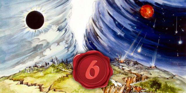 Откровение Иоанна Богослова Он снял шестую печать, произошло великое землетрясение, и солнце стало мрачно как власяница, и луна сделалась как кровь новый завет библия