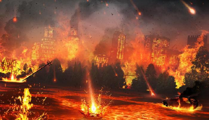Откровение Иоанна Богослова произошли молнии и голоса, и громы и землетрясение и великий град новый завет библия