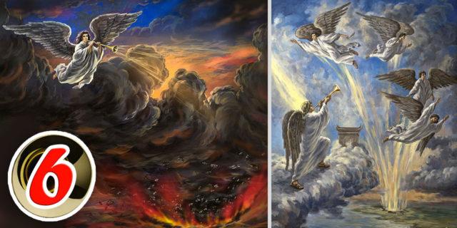 Откровение Иоанна Богослова Шестой Ангел вострубил И освобождены были четыре Ангела, чтобы умертвить третью часть людей новый завет библия
