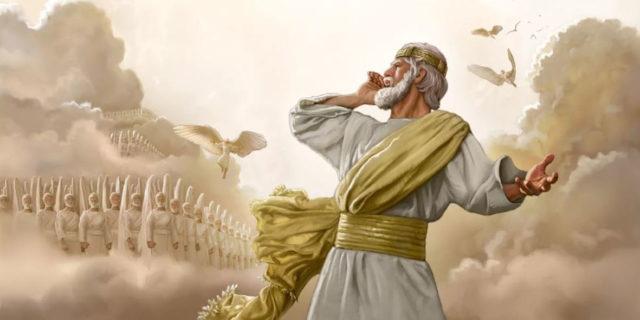 Откровение Иоанна Богослова увидел я одного Ангела, стоящего на солнце новый завет библия