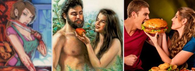 Первородный грех Адама и Евы, убийство животных и поедание их трупов Бытие Ветхий завет Библия (версия №1) 5
