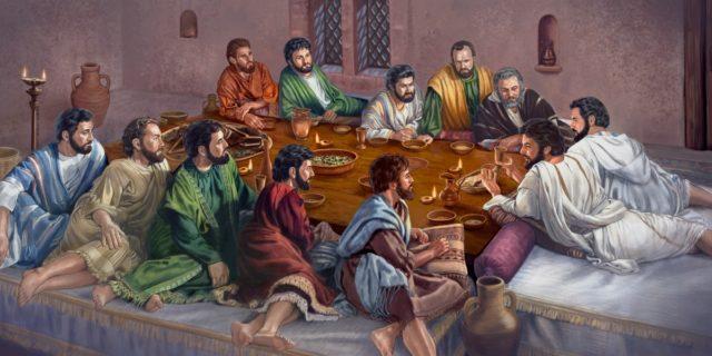 Тайная вечеря Иисуса Христа с учениками евангелие новый завет библия 3