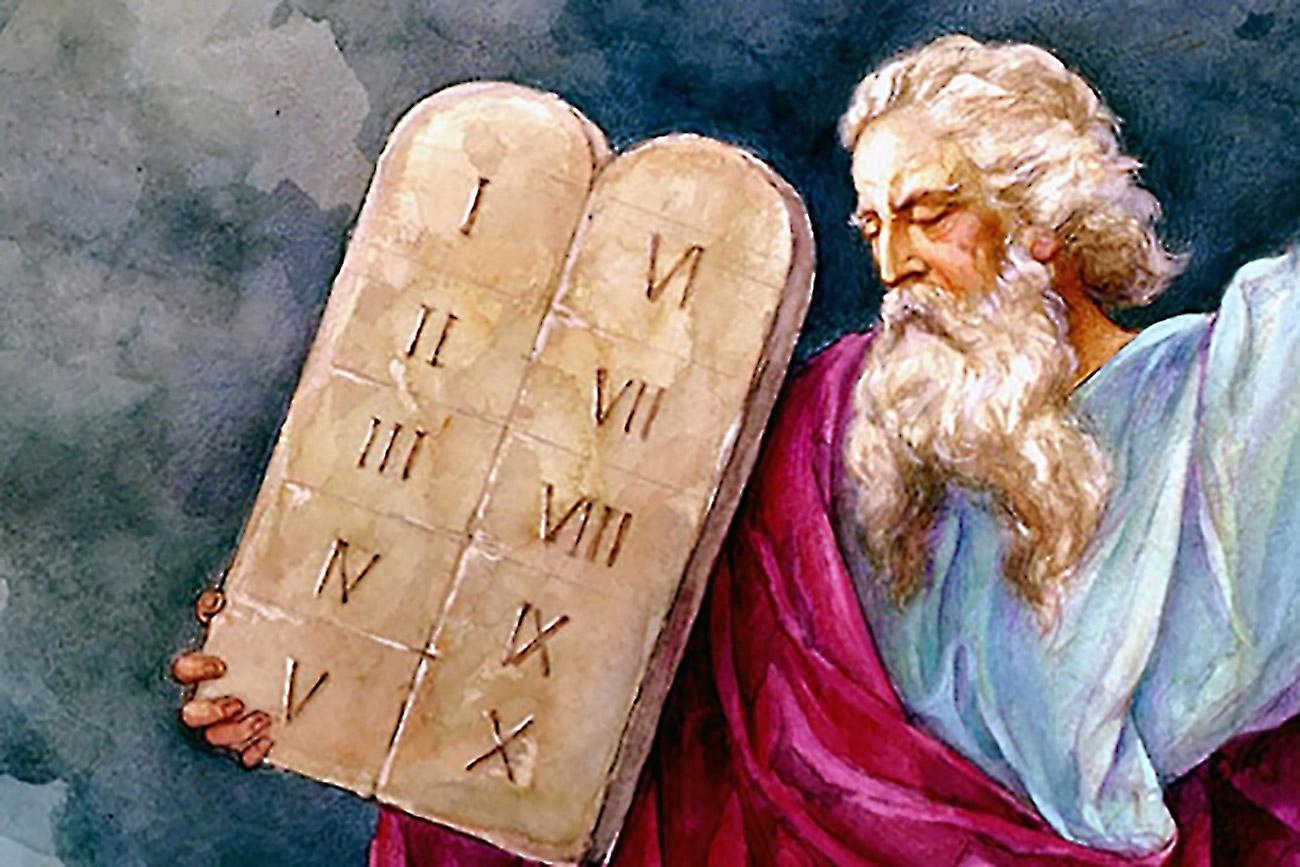 Моисей десять заповедей и две скрижали завета исход ветхий завет библия 2