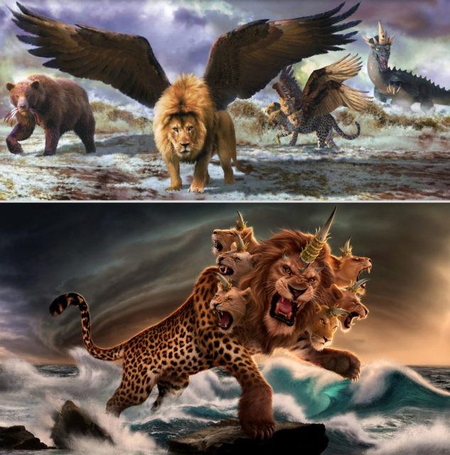 Откровение Иоанна Богослова Зверь был подобен барсу; ноги у него — как у медведя, а пасть у него — как у льва новый завет библия 2