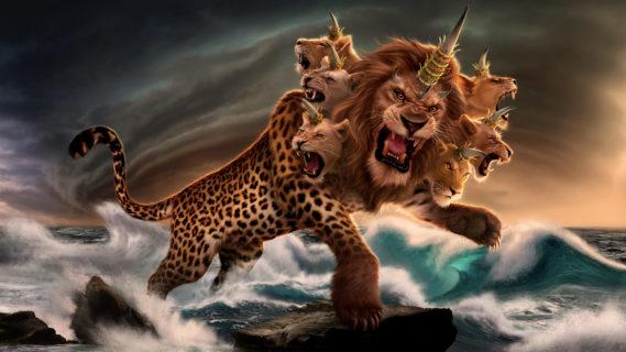 Откровение Иоанна Богослова Зверь был подобен барсу; ноги у него — как у медведя, а пасть у него — как у льва новый завет библия