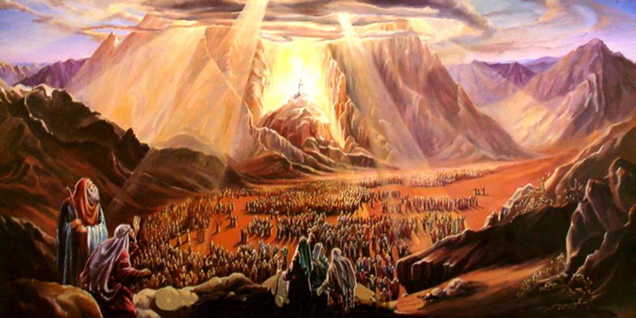 Моисей и народ еврейский подле горы Синай исход ветхий завет библия