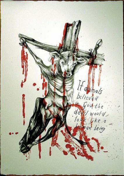 Если бы у животных была религия, то дьяволом в ней был бы человек #ВЕГЕТАРИАНСТВО #ВЕГАН #ВЕГАНСТВО #ВЕГЕТАРИАНЕЦ #GoVegan #ХРИСТОЛЮБ — christolube.ru 2