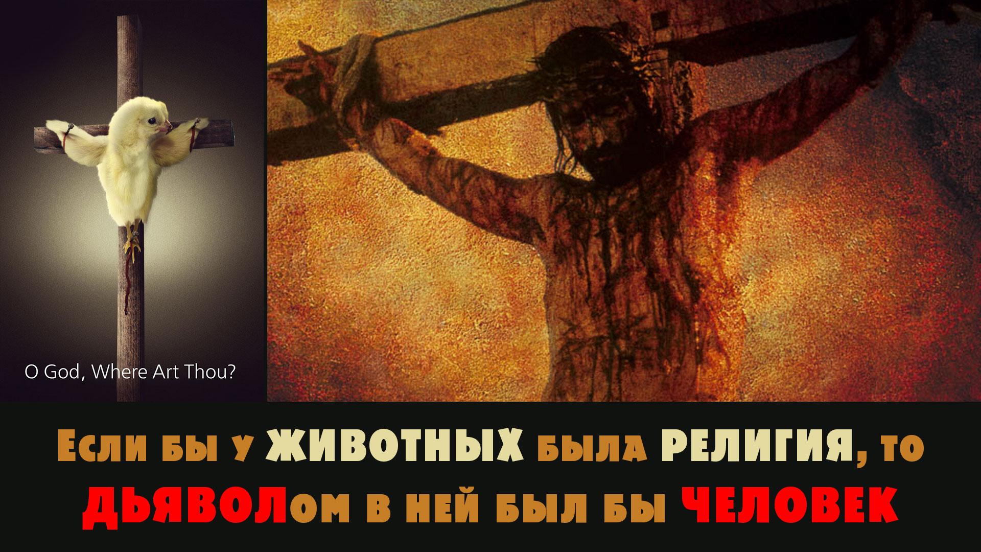 Если бы у ЖИВОТНЫХ была РЕЛИГИЯ, то ДЬЯВОЛом в ней был бы ЧЕЛОВЕК #ВЕГЕТАРИАНСТВО #ВЕГАН #ВЕГАНСТВО #ВЕГЕТАРИАНЕЦ #GoVegan #ХРИСТОЛЮБ — christolube.ru