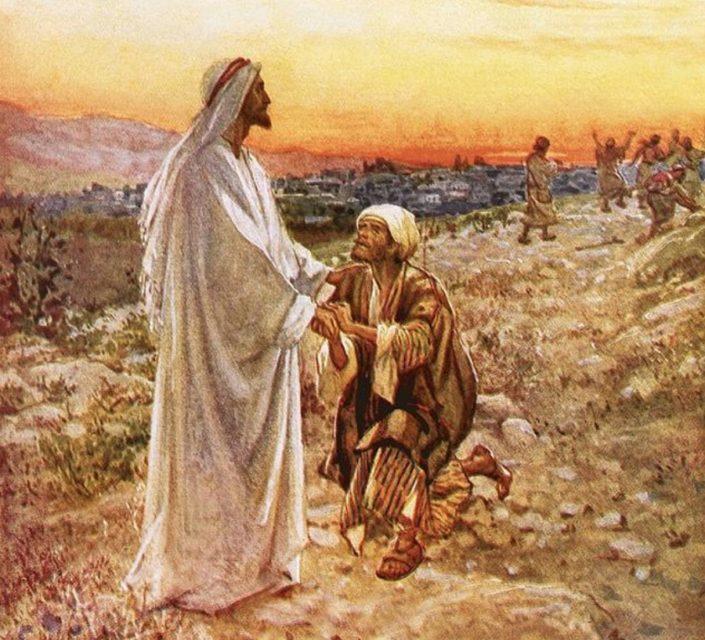 Иисус Христос исцеляет 10 прокажённых один возвращается евангелие новый завет библия