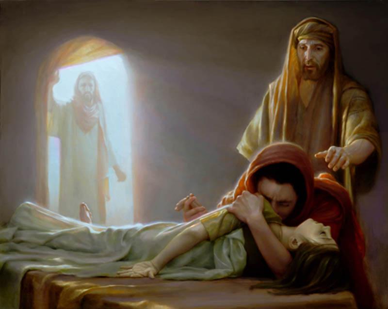 Иисус Христос воскрешает дочь Иаира 3 евангелие новый завет библия