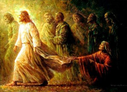 Исцеление кровоточивой, прикоснувшийся с верою к Иисусу Христу евангелие новый завет библия 1.2